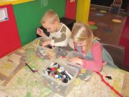 The twins had a great time in the Lego Center