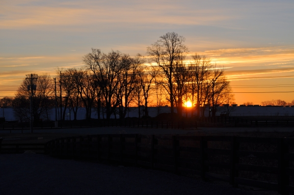 Last sunrise in Campbellsville, Kentucky