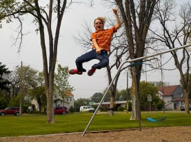 Swing jumping...