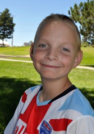 Nathan at soccer camp